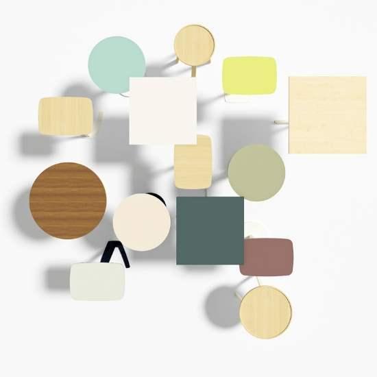 MSM verschiedene Tischplatten von oben