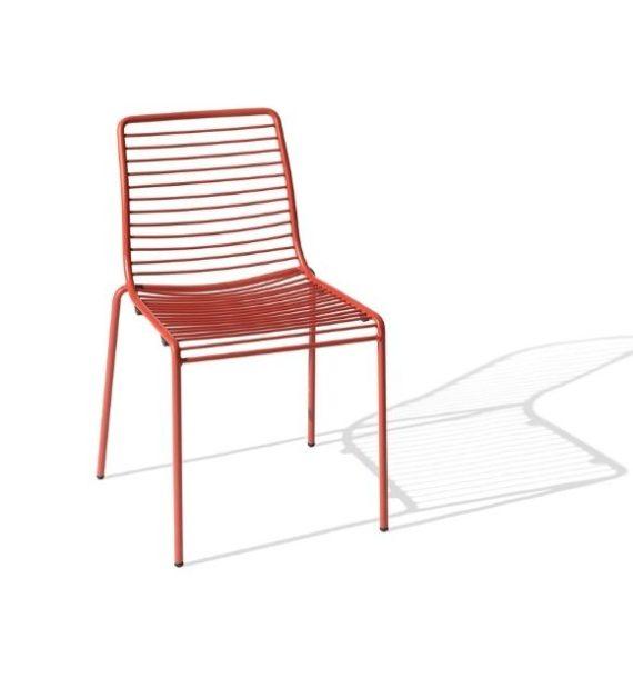 MSM Stuhl Modell Margarete Outdoor mit Gestell Volldraht rot