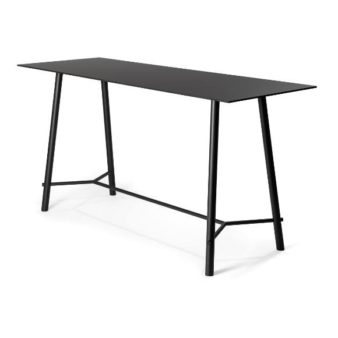 MSM Stehtisch Otto, Gestell schwarz, Tischplatte rechteckig, schwarz