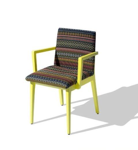 MSM Stuhl Kaspar, aus Holz, massive Buche, Sitz und Rücken voll gepolstert, individuell konfigurierbar