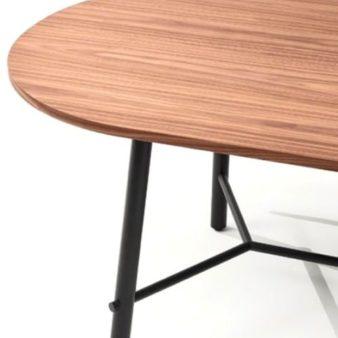 MSM Tisch Otto, Konferenztisch, Esstisch, Gestell schwarz, Tischplatte oval, Holz