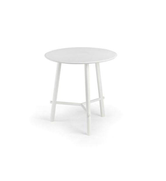 MSM Tisch Otto, Bistrotisch, Gestell weiß, Tischplatte rund