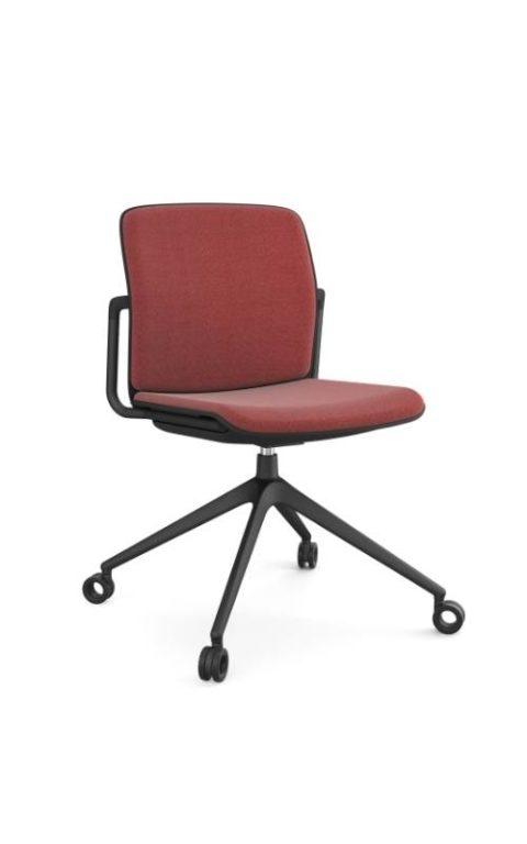 MSM Form & Furniture Modell Meet Slide, Konferenzstuhl, Drehstuhl mit Sitzpolster und Rückenpolster, ergonomische, bewegliche Sitzschale