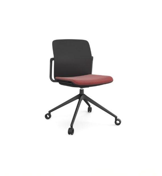 MSM Form & Furniture Modell Meet Slide, Konferenzstuhl, Drehstuhl mit Sitzpolster, ergonomische, bewegliche Sitzschale