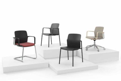 MSM Form & Furniture Serie Slide, Stapelstuhl, Freischwinger, Bürostuhl, Konferenzstuhl