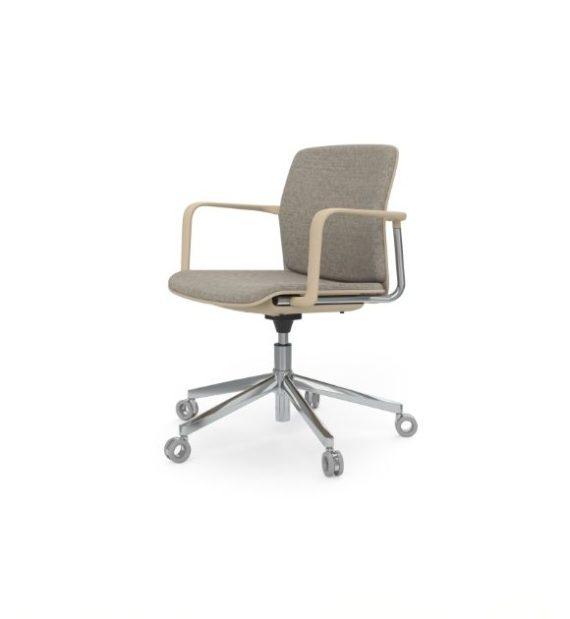 MSM Form & Furniture Modell Work Slide, Bürostuhl, Drehstuhl mit Rückenpolster und Sitzpolster, ergonomische, bewegliche Sitzschale