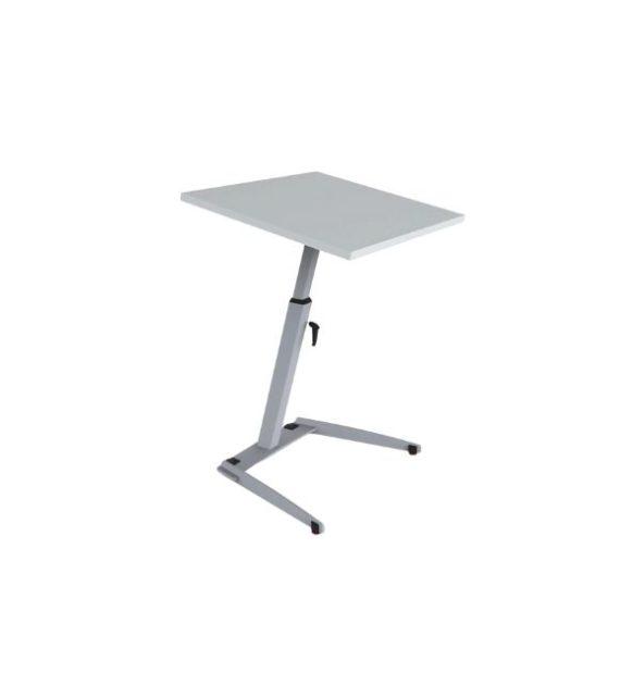 MSM Single Table, multifunktionaler Tisch, Tischplatte weiß und kippbar, Gestell Chrom