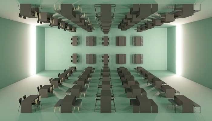 MSM Auswahl an Produkte aus dem Portfolio symmetrisch im Raum